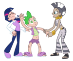 Twilight, Spike, and Zecora by trinityinyang