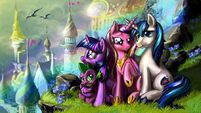 Twilight sparkle princess cadence y shining armor by sofia23-d5rvaej