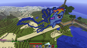 FANMADE Rainbow Dash Minecraft building 3