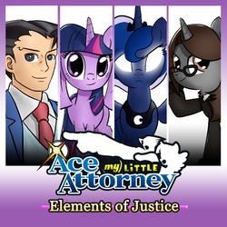 Elements of Justice mock cover art by TheAljavis