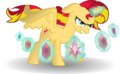 Alicorn Sunset Shimmer with Elements by TheShadowStone.png