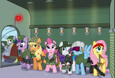 The mane six join the army
