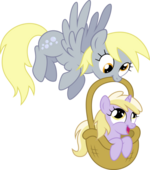 Derpy Hooves and Dinky Do by artist-tryhardbrony