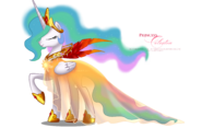 Princess Celestia Gala Fashion Dress by artist-selinmarsou