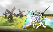 Princess Celestia and Derpy wallpaper