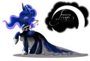 Princess Luna Gala Fashion Dress by artist-selinmarsou