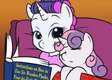 Rarity and Sweetie Belle story time