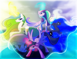 Princesses of whole Equestria by artist-famosity