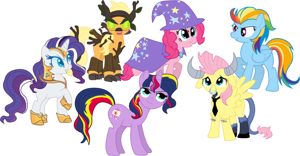 Image the mane 6 as their my little pony for Mlp coloring pages mane 6