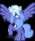 Princess Luna & Snowdrop by AgnessAngel