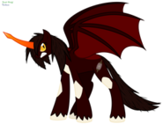 Destroyah pony by faith wolff-d6heo0w