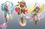 Original costumes magical girls FM comics R A F by mauroz