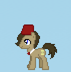 Doctor Whooves with a fez sprite