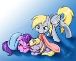 Derpy take care of Sparkler and Dinky Do