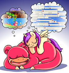 Princess Erroria Slowpoke dreaming