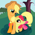 Applejack with Apple Bloom.jpeg