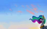 Princess Celestia wallpaper by artist-lewhopper