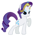 Rarity wearing her own tiara.png