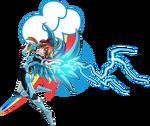 FM Rainbow Valkyrie Lightning by mauroz