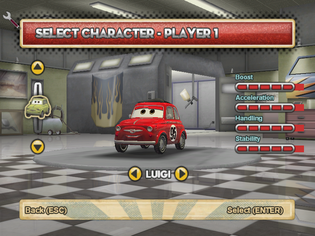 File:Luigi's red paintjob with decal.png