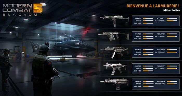 MC5 weapon stats - submachine guns