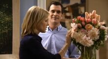 Phil has order flowers for Claire
