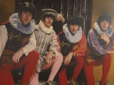 Beatles ruffle costumes