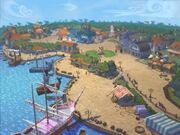 Lucre Island Town overview