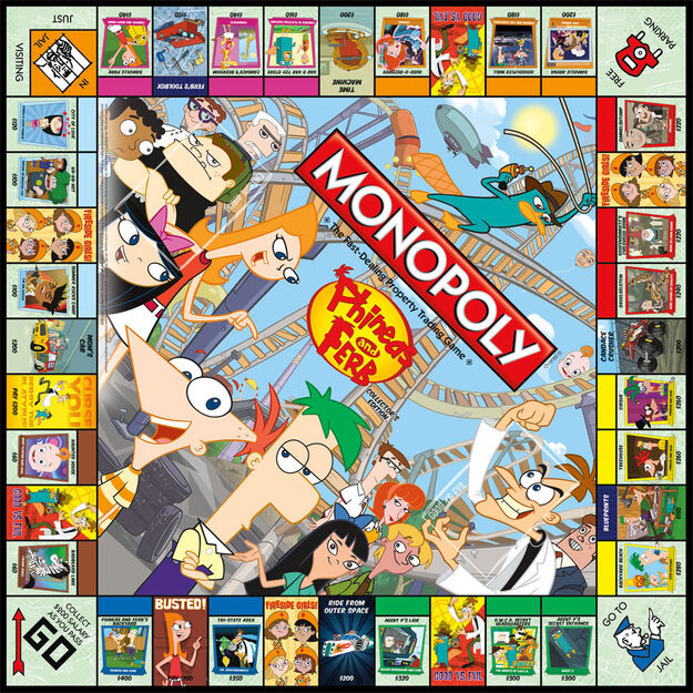 PnF Monopoly board