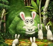 Bunny eating monster