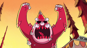 Gnome monster arms up