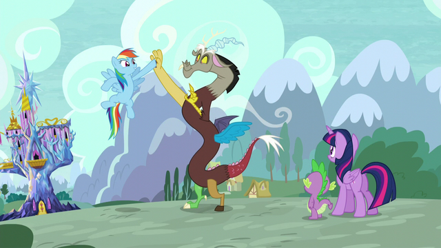 File:Rainbow Dash high-hoofs with Discord S5E22.png
