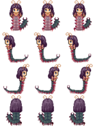 Oomukade monster girl sprite by mireus-d8o5l9k