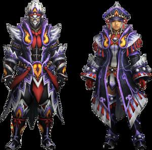 MH4U-Kecha Z Armor (Blademaster) Render 001
