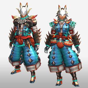 FrontierGen-Inari G Armor (Blademaster) (Front) Render