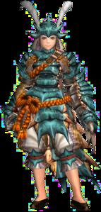 FrontierGen-Kutkusu G Armor (Female) (Gunner) Render 001
