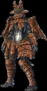 MHO-Sandstone Basarios Armor (Blademaster) (Female) Render 001