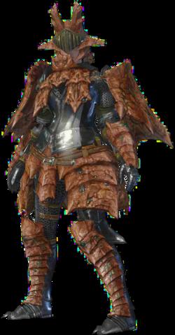 File:MHO-Sandstone Basarios Armor (Blademaster) (Female) Render 001.png