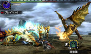MHXX-Hyper Zinogre and Gold Rathian Screenshot 001