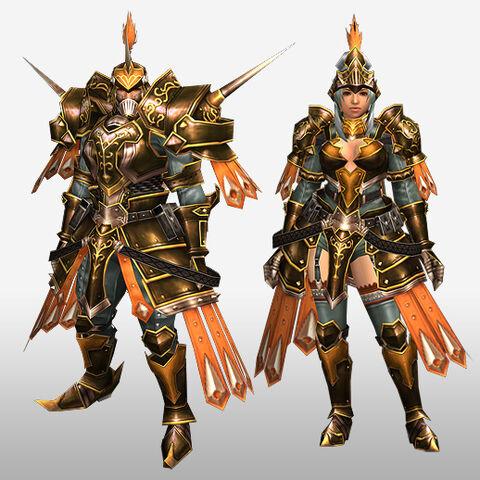 File:FrontierGen-Zaka Armor (Blademaster) and Cheisa Armor (Gunner) (Front) Render.jpg