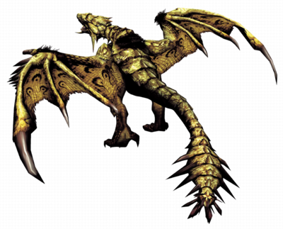 MHF1-Gold Rathian Render 001
