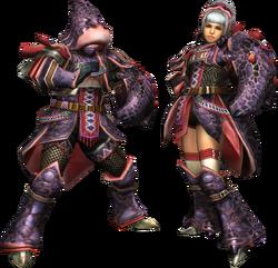 FrontierGen-Okami Armor (Gunner) Render 2