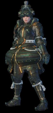 File:MHO-Shen Gaoren Armor (Gunner) (Female) Render 001.png