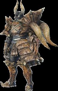 MHO-Diablos Armor (Gunner) (Male) Render 001