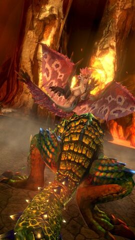 File:MHSP-Pink Rathian and Berserk Tetsucabra Screenshot 001.jpg