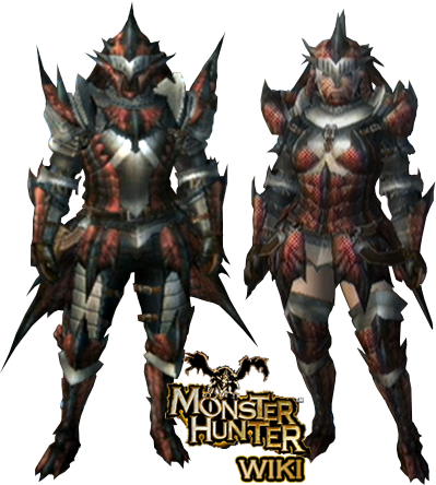 Rathalos Armor (Blademaster) (MH3U) | Monster Hunter Wiki ...