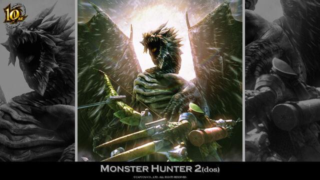 File:MH 10th Anniversary-Monster Hunter 2 Wallpaper 001.jpg