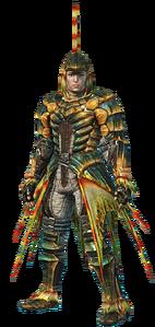 MHO-Plesioth Armor (Blademaster) (Male) Render 001