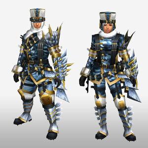 FrontierGen-Sabeji G Armor (Gunner) (Front) Render