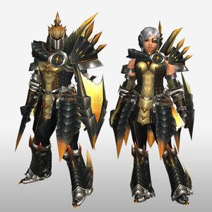 FrontierGen-Ruko Armor (Gunner) (Front) Render